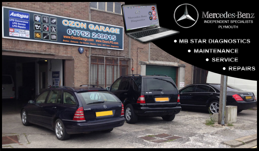 OZON GARAGE PLYMOUTH MERCEDES SPECIALISTS